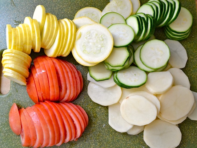 3 sliced veggies