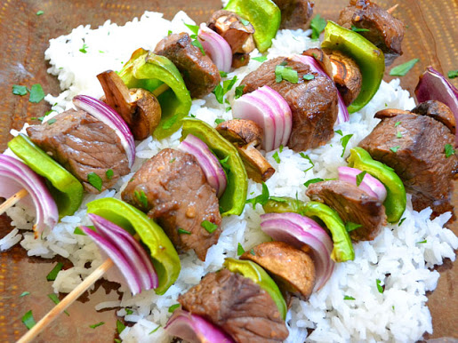 Balsamic Beef Kebabs close