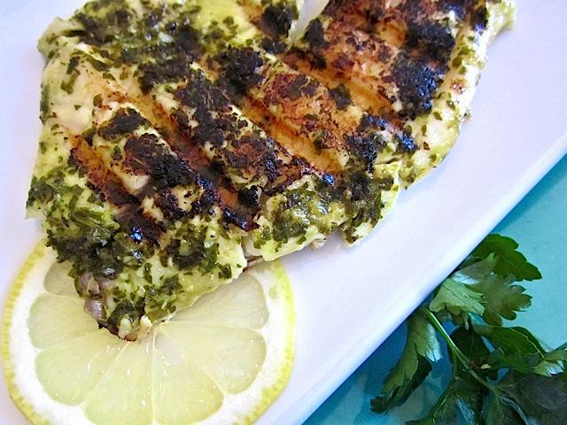 Garlic Lemon Fish super close