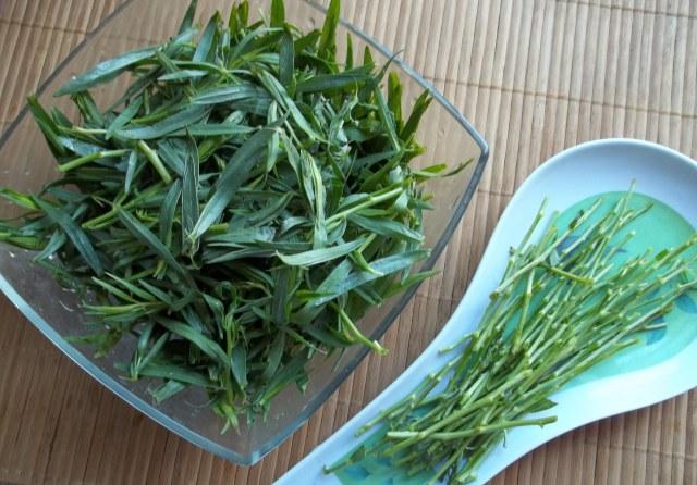 preparing-tarragon-for-chakapuli-recipe