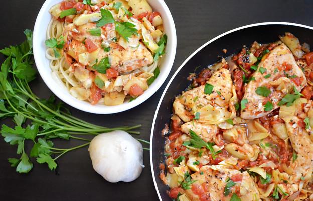 artichoke-chicken-skillet-both