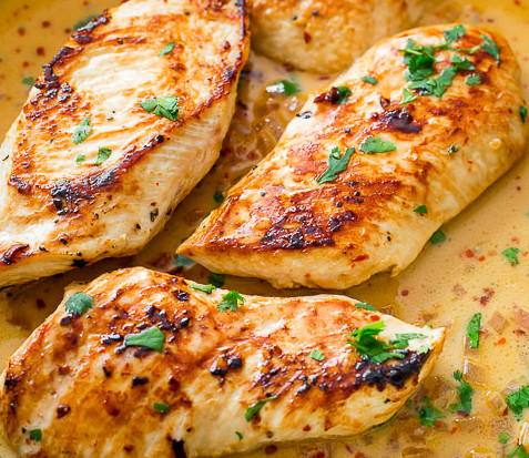skillet-chicken-with-creamy-cilantro-lime-sauce-3